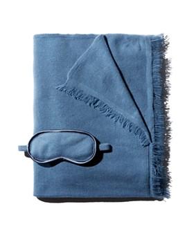 Portolano - Eye Mask & Cashmere Wrap Travel Gift Set