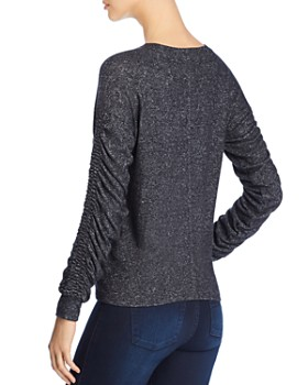 Coin - Brushed Ruched-Sleeve Sweater