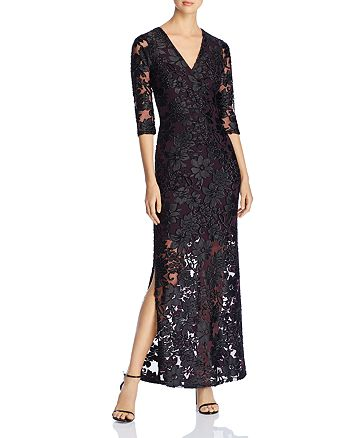78d134c5cc1 Leota - Floral Mesh Illusion Maxi Dress