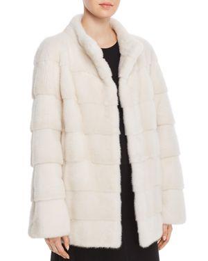 MAXIMILIAN FURS Short Mink Fur Coat- 100% Exclusive in Pearl