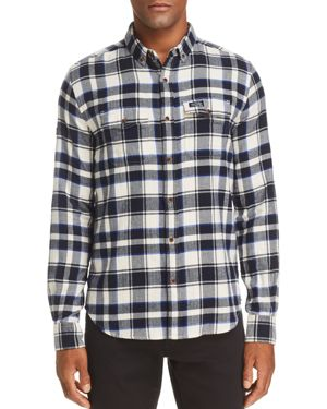 SUPERDRY Winter Wash-Basket Plaid Regular Fit Button-Down Shirt in Paraguyay Navy Check