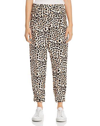 ATM Anthony Thomas Melillo - Leopard-Print Silk Jogger Pants