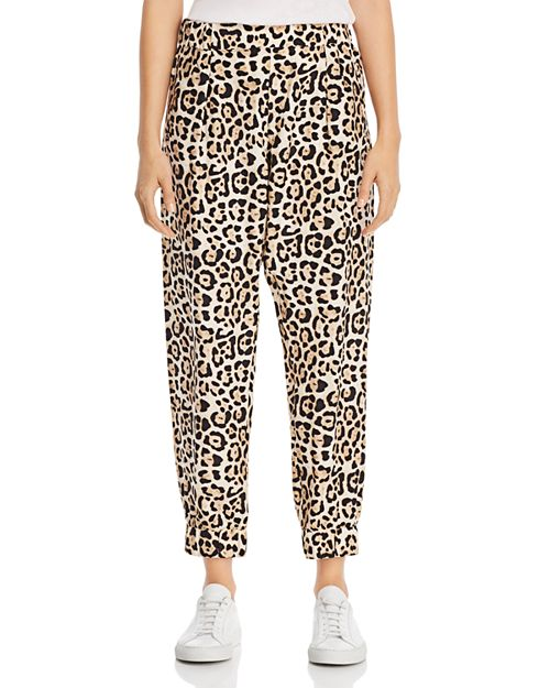 ATM Anthony Thomas Melillo - Leopard-Print Silk Jogger Pants