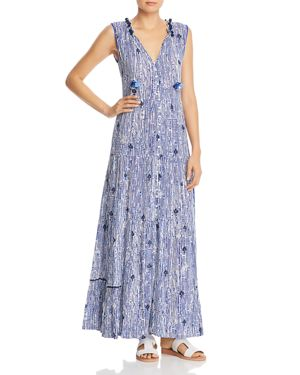 POUPETTE ST BARTH Clara Sleeveless Maxi Dress in Blue