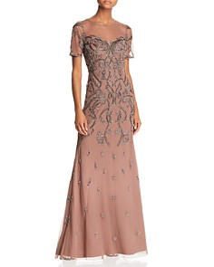 Aidan Mattox - Embellished Illusion Gown