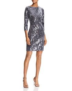 Eliza J - Sequined Velvet Dress
