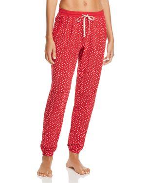 JANE & BLEECKER NEW YORK Printed Jogger Pants in Red Dot
