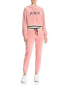 Juicy Couture Black Label - Luxe Velour Logo Hoodie
