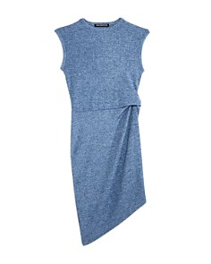 Miss Behave - Girls' Ira Ribbed Asymmetrical Dress - Big Kid