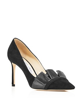 Jimmy Choo - Women's Leena 85 Frill Pointed-Toe Pumps
