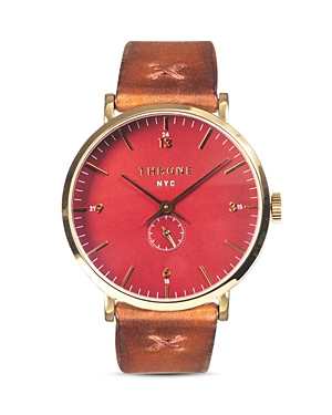 Throne Fathom 1.0 Red Dial Watch, 40mm