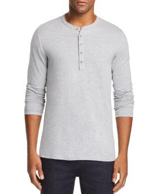Velvet by Graham /& Spencer Men/'s Aqua Blue Sueded Jersey Raglan Henley Shirt
