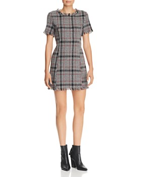 AQUA - Plaid Tweed Dress - 100% Exclusive