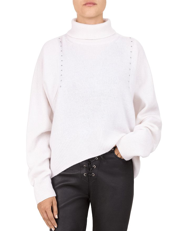 0ca59b3d2cd The Kooples - Studded Draped Turtleneck Sweater