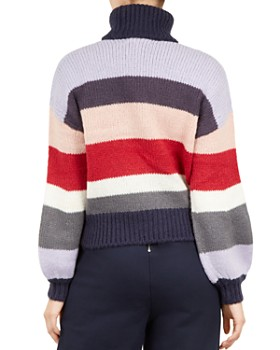 Ted Baker - Colour by Numbers Moliea Striped Turtleneck Sweater