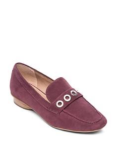 Bernardo - Women's Jaden Grommet Suede Loafers