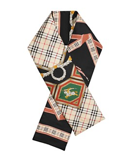 Burberry - Archive Print Silk Puffer Scarf