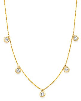 Bloomingdale's - Diamond Station Necklace in 14K Yellow Gold, 1.0 ct. t.w. - 100% Exclusive