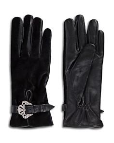 The Kooples - Velvet & Leather Gloves