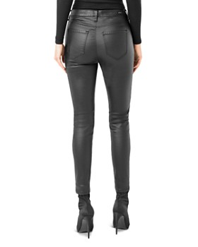 Liverpool - Abby Faux-Leather Skinny Fit Ankle Pants