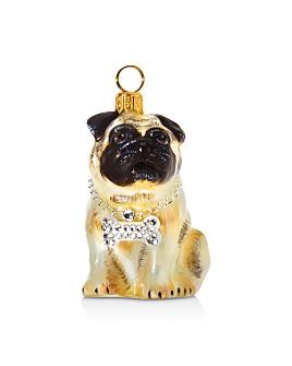 Joy to the World - Pug Fawn Rapper Ornament