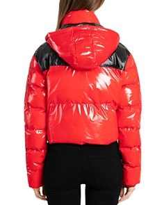 BAGATELLE.NYC - Cropped Hooded Puffer Jacket