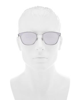 Saint Laurent - Men's Mirrored Brow Bar Square Sunglasses, 61mm