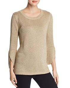 Calvin Klein - Metallic Bell-Sleeve Sweater