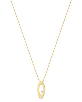 "Roberto Coin - 18K Yellow Gold Chic & Shine Diamond Pendant Necklace, 18"""
