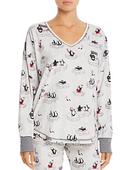 PJ Salvage - Penguin Print Long Sleeve Top