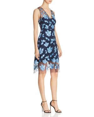 Elie Tahari Pearl Floral Lace Dress