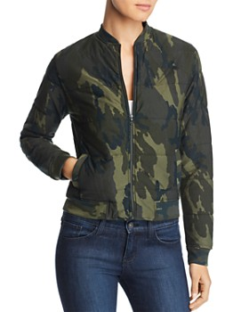 Majestic Filatures - Camo Quilted Bomber Jacket