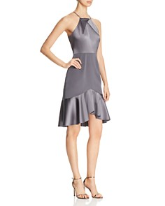 Elie Tahari - Bella Mixed Satin Dress