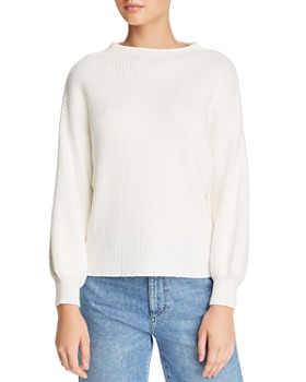 Line & Dot - Funnel-Neck Ribbed Sweater