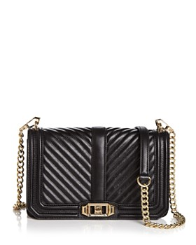 Rebecca Minkoff - Love Small Chevron Quilted Leather Crossbody