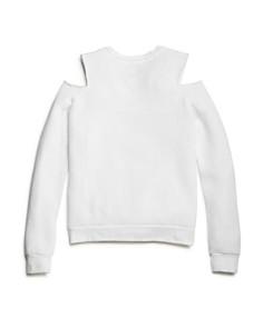 So Nikki... - Girls' Only Love Cold-Shoulder Fleece Sweatshirt - Big Kid
