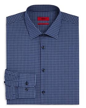 HUGO - Tattersall-Check Regular Fit Dress Shirt