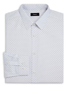 Theory - Circle Print Slim Fit Dress Shirt
