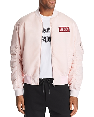 McQ Alexander McQueen Logo-Patch Bomber Jacket