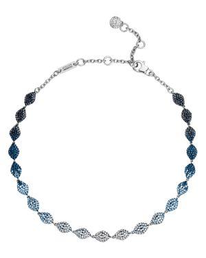 ATELIER SWAROVSKI Moselle Mini Choker Necklace, 16 in Blue/Silver