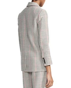 Maje - Voldi Checked Double-Breasted Blazer