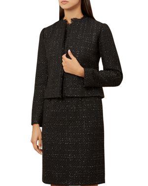 Gabriella Metallic Tweed Jacket in Black