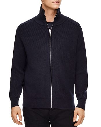 Sandro - Ribbed Zip-Front Cardigan Sweater