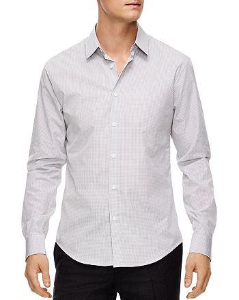 Sandro - Micro-Check Slim Fit Button-Down Shirt