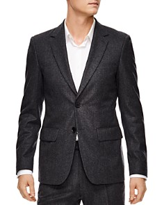 Sandro - Jupiter Gray Wool Slim Fit Sport Coat