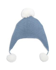 Elegant Baby - Boys' Pom-Pom-Trimmed Knit Aviator Hat - Baby