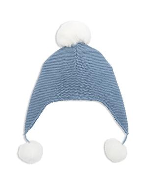 Elegant Baby Boys PomPomTrimmed Knit Aviator Hat  Baby