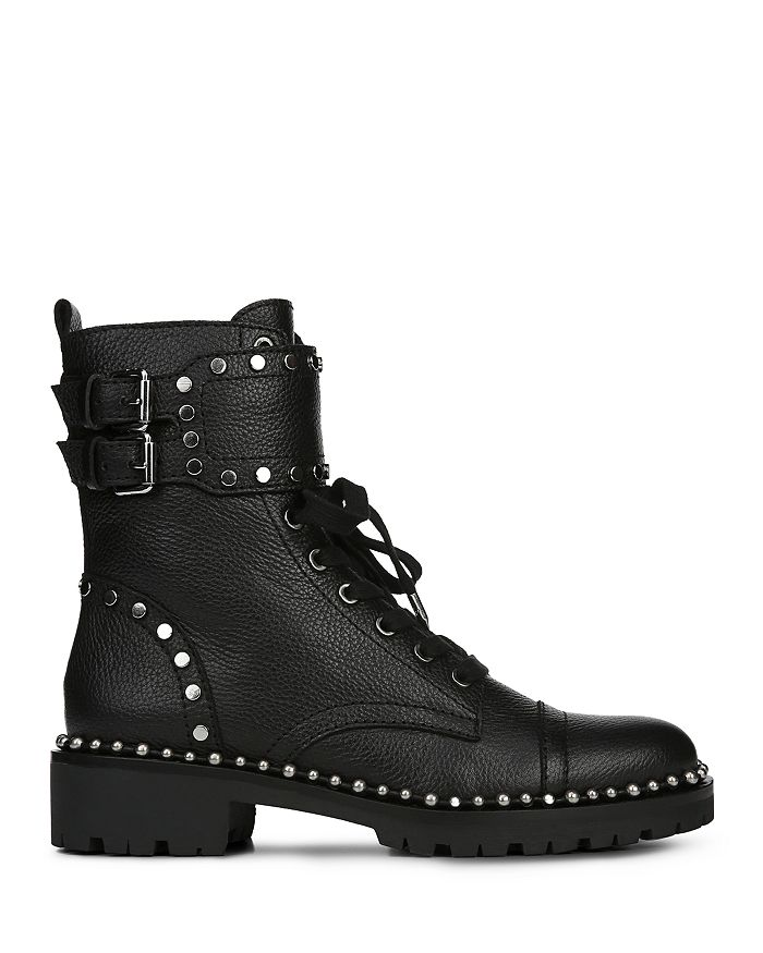 f42fee9e6d71 Sam Edelman Women s Jennifer Studded Leather Combat Booties ...