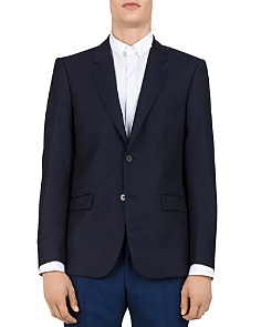 The Kooples - Embossed-Checks Wool Slim Fit Sport Coat
