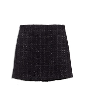 Bardot Junior - Girls' Jet Tweed Moto Skirt - Big Kid